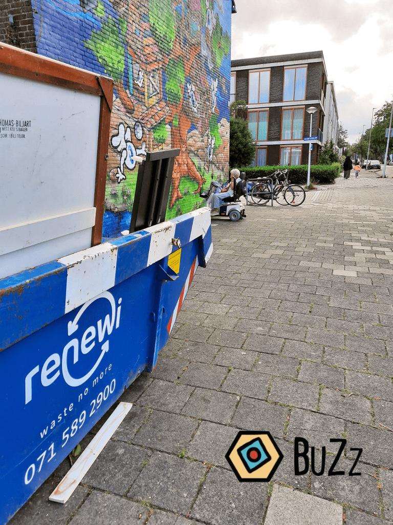opruimen buurtontmoetingsplek BuZz Leiden